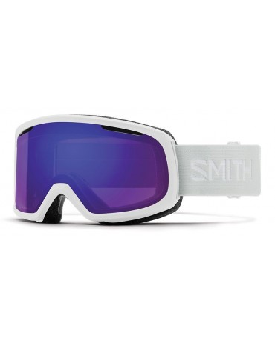 Smith Riot White Vapor ChromaPop Violet Mirror Maschera da Sci