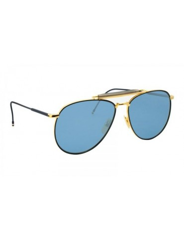 Thom Browne TB 015 LTD NVY GLD Unisex Sunglasses