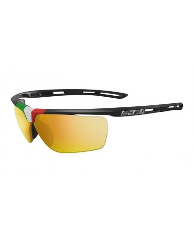 Salice model 019 ITA BLACK/RW YELLOW Unisex Sport Sunglasses