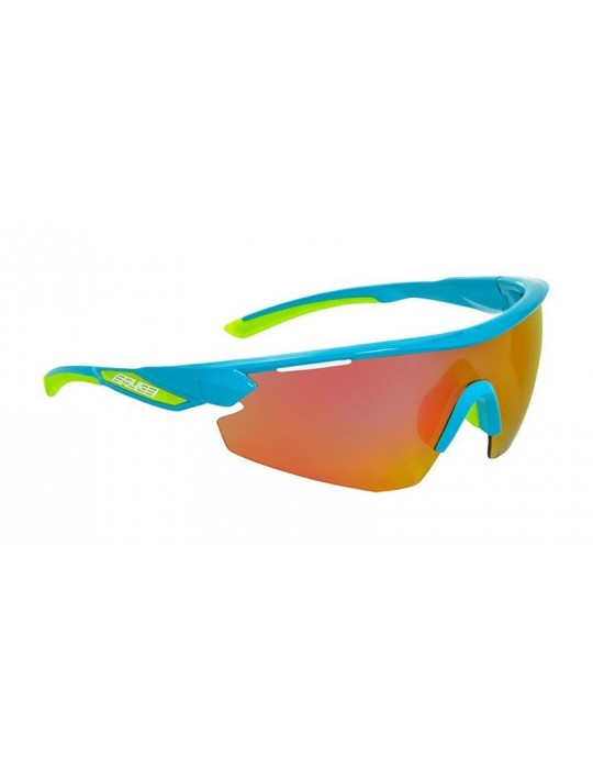 Salice model 012 TURQUOISE/RW RED Unisex Sport Sunglasses