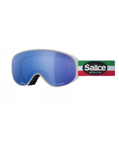 SALICE modello 101 colore BIANCO/RW BLU Centennial Edition Maschera da Sci Unisex