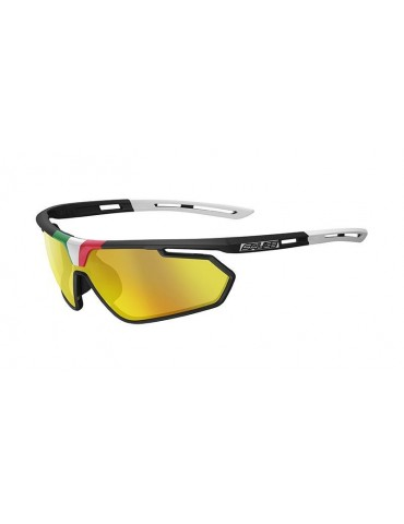 Salice model 018 ITA BLACK/RW GOLD Unisex Sport Sunglasses