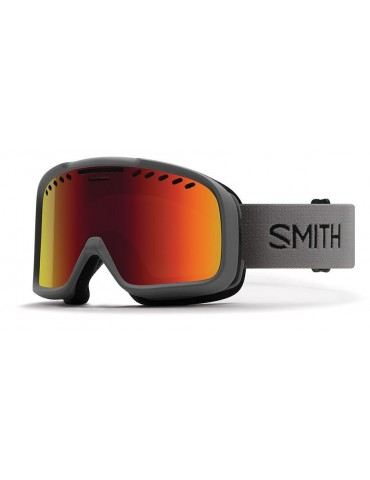 Smith Optics Project color Charcoal Red Sol-X Ski Goggles Unisex