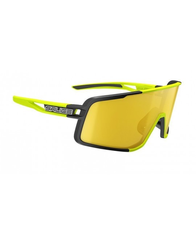 Salice model 022 BLACK/RW YELLOW Unisex Sport Sunglasses