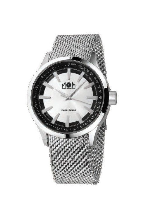 Man Watch Lowell MOM Rush Time Silver PM7700-0200