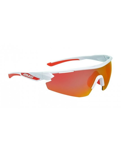 Salice model 012 WHITE/RW RED Unisex Sport Sunglasses