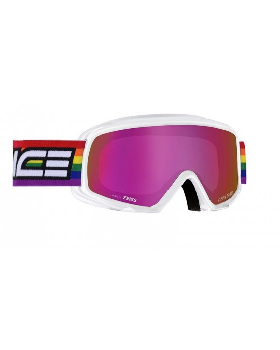 Salice model 608 color WHITE/RW VIOLET Unisex Ski Goggles