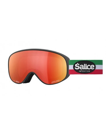 Salice model 101 color BLACK/RW RED e Centennial Edition Unisex Ski Goggles