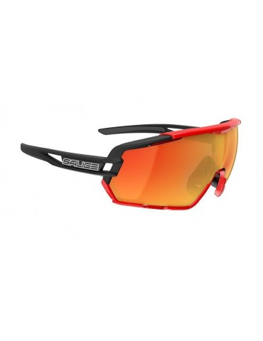 Salice model 020 BLACK/RW RED Unisex Sport Sunglasses