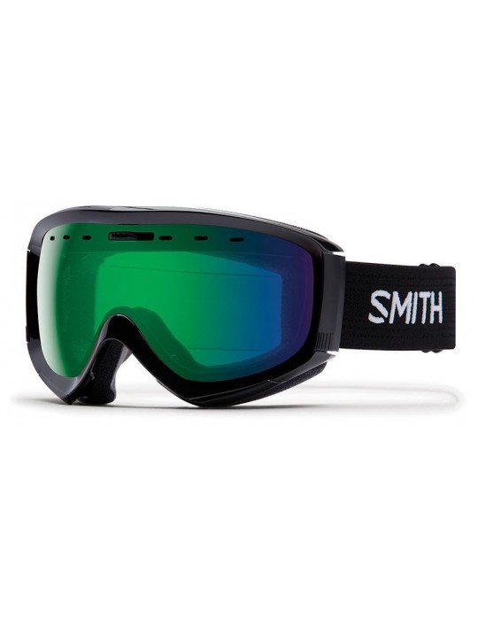 Smith Optics Prophecy OTG Black Green Mirror Ski Goggles