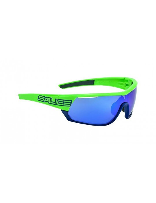 Salice model 016 GREEN/RW BLUE Unisex Sport Sunglasses