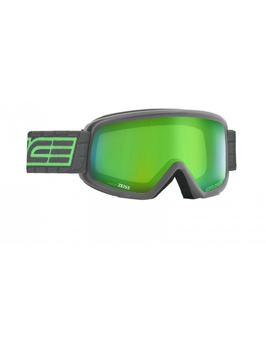 Salice model 608 color CHARCOAL/RW GREEN Unisex Ski Goggles