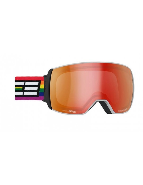 Salice model 605 OTG color WHITE/RW RED Unisex Ski Goggles
