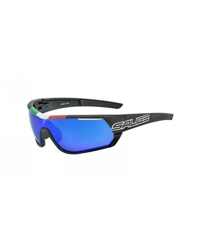 Salice model 016 ITA BLACK/RW BLUE Unisex Sport Sunglasses
