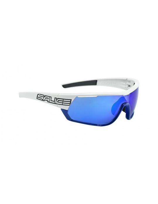 Salice model 016 BLACK/RW BLUE Unisex Sport Sunglasses