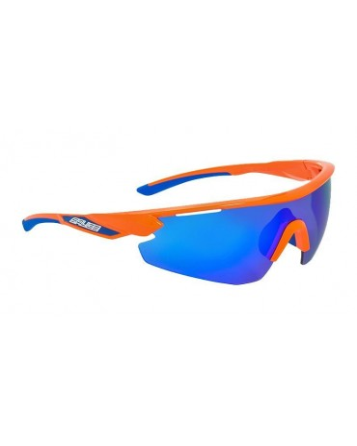 Salice model 012 ORANGE/RW BLUE Unisex Sport Sunglasses