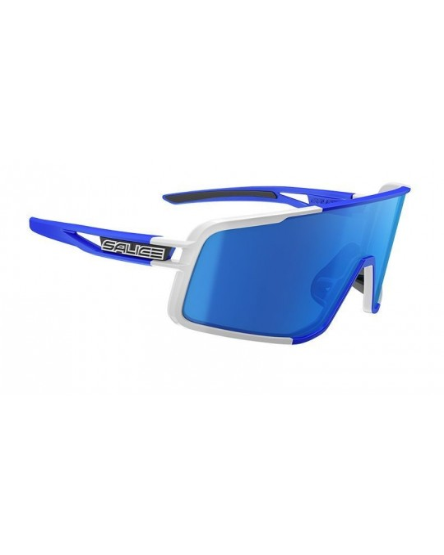 Salice modello 022 BIANCO/RW BLU Occhiali da Sole Sportivi Unisex