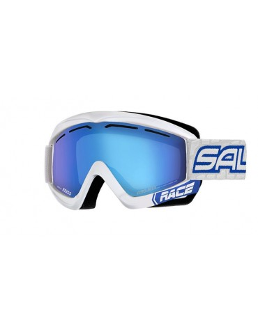 Salice model 969 color WHITE/RW BLUE Unisex Ski Goggles
