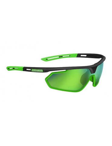 Salice model 018 BLACK/RW GREEN Unisex Sport Sunglasses