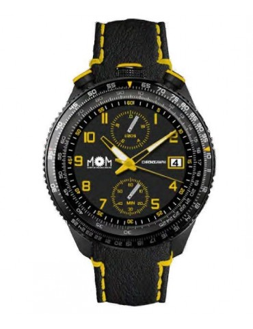 Man Watch Lowell MOM MPH Chrono Black-Yellow PM7400-952