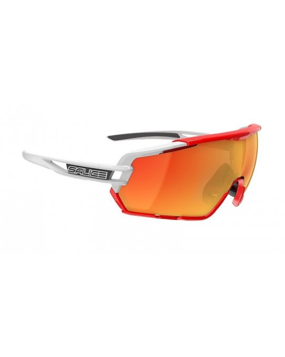 Salice model 020 WHITE/RW RED Unisex Sport Sunglasses